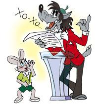 Ну погоди заяц написал речь а волк